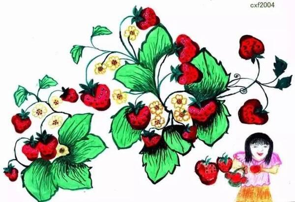 世界著名摄影大师斯鲁本更是收藏了她的蜡笔画《石榴树》