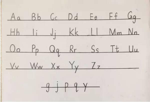 小学英语规范书写,期末考前让孩子再看看图片