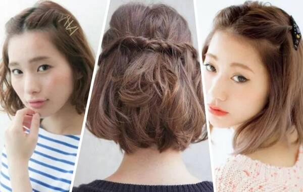 短发怎么编好看,短头发编发教程图解