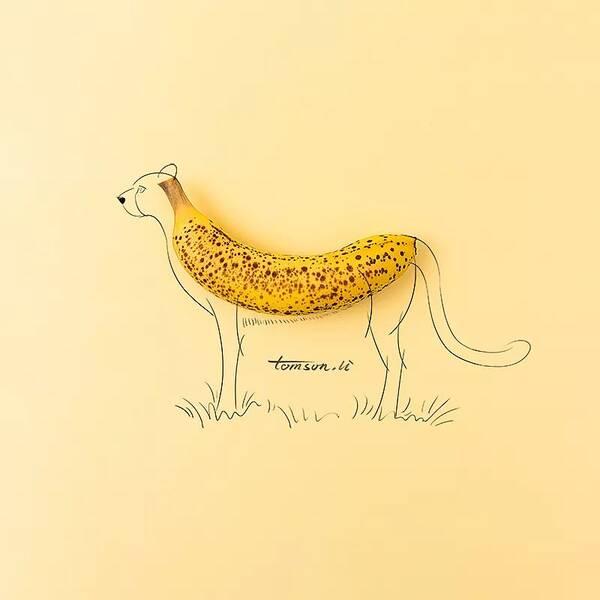 创意铅笔屑粘贴画植物动物