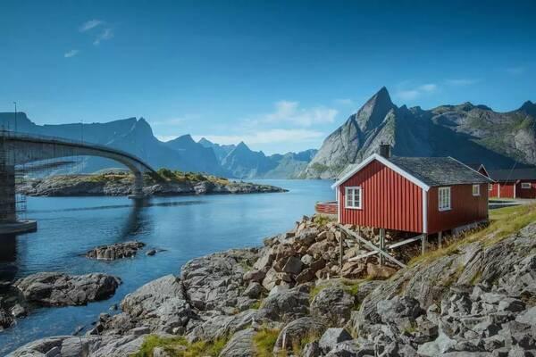 除了冰岛,挪威北部很美的罗弗敦群岛也是看极光的好地方.