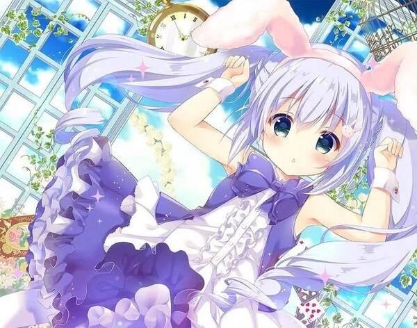 软萌兔娘,兔兔那么可爱,你为什么要吃兔兔丨绘画素材