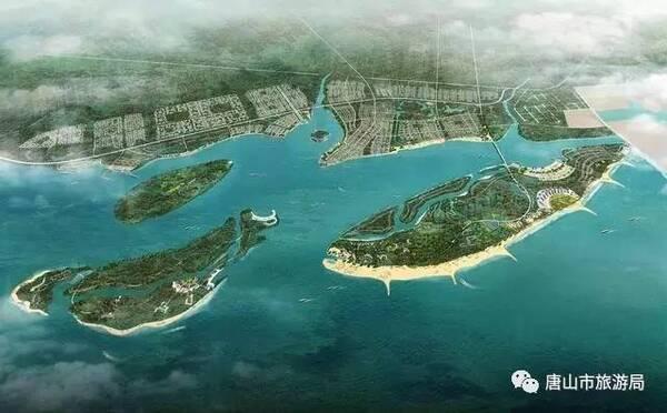从唐山湾国际旅游岛菩提岛隔水南望,茫茫沧海间有一月牙形的小岛,那