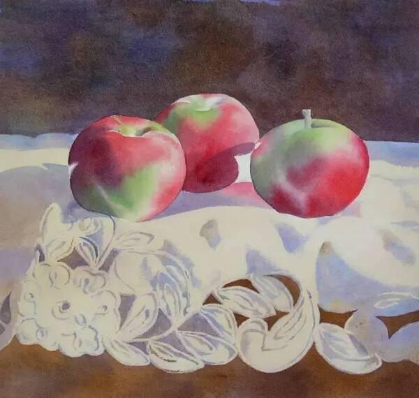 水彩画教程——苹果的画法步骤