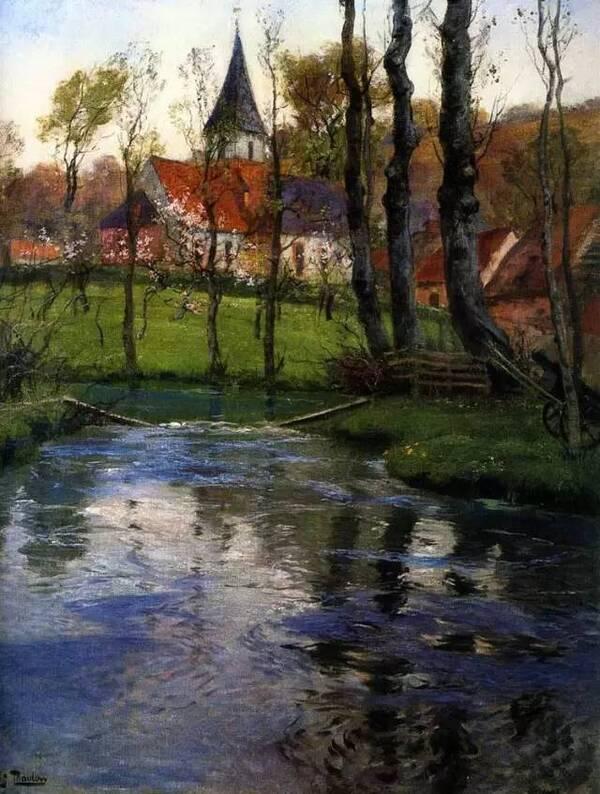 波兰画家 尤尼亚那维奇 风景油画作品欣赏
