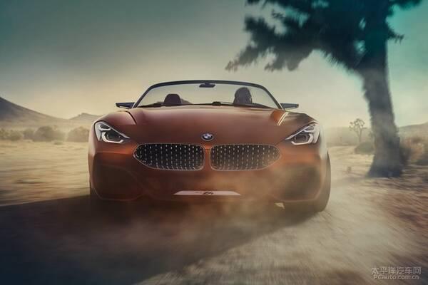 全新宝马z4概念车发布 突破传统变帅了