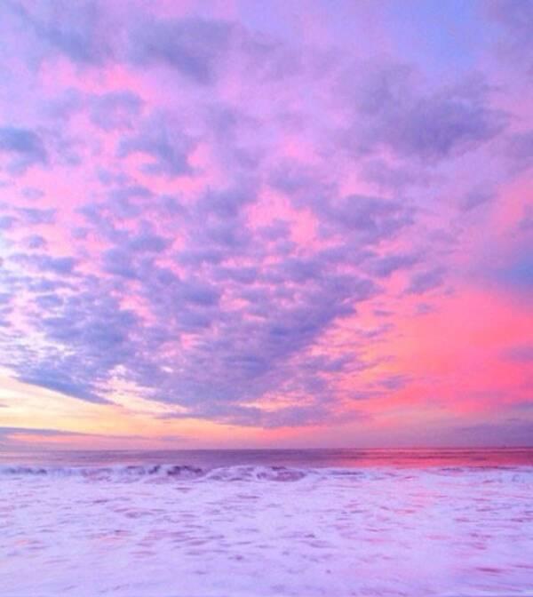 粉色超美丽风景图片