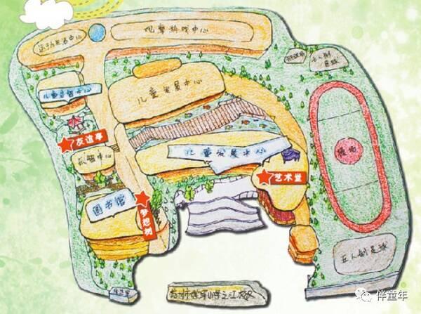儿童寻宝手绘地图