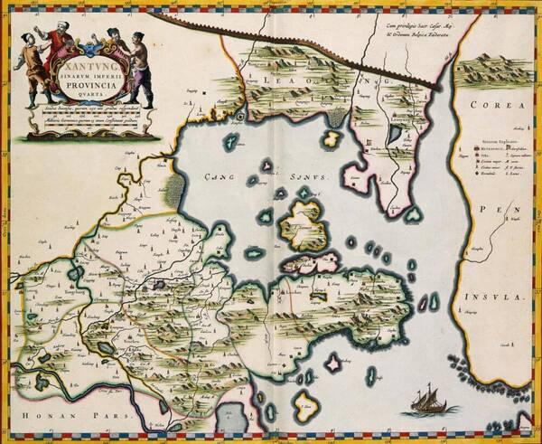 欧洲人绘制的明朝疆域地图,看看与我们的有什么不同