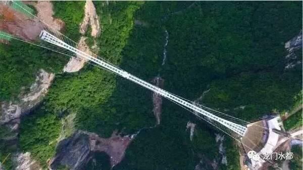 融水双龙沟景区玻璃悬索桥