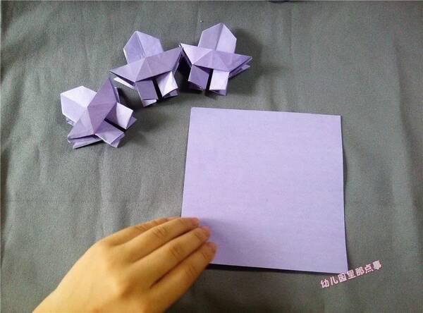 幼儿园亲子手工折纸diy之宝塔