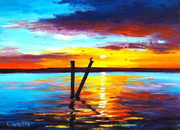这样色彩鲜艳的风景画喜欢吗?充斥着宁静旷远