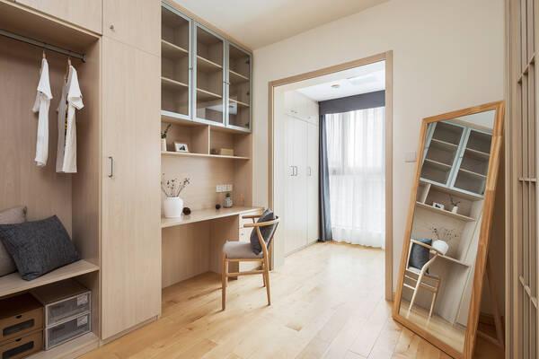 小书房:做了一面墙的柜子,既有衣柜也有书柜,非常实用!图片