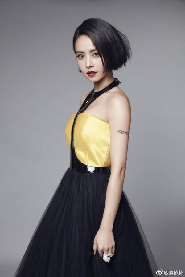 蔡依林身穿抹胸裙拍写真尽显高贵冷艳,网友:以前跟罗玉凤一个样图片