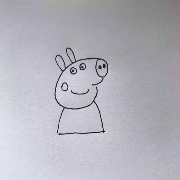 九步学会画小猪佩奇,孩子对我们竖起了大拇指