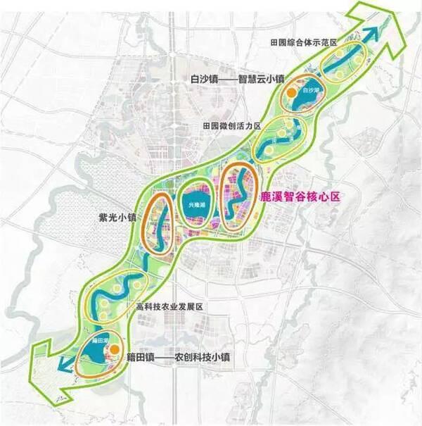 鹿溪智谷核心区规划图