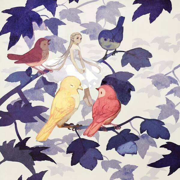 像极了一本森林奇妙小说的插图 隐藏在花中的小精灵图片