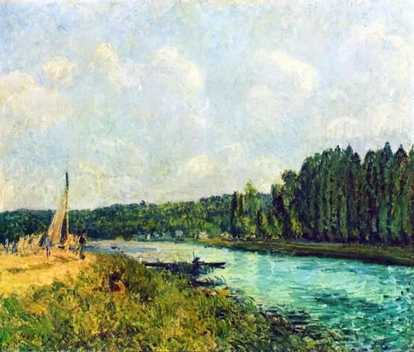 印象派风景大师 西斯莱 画风温和且富有诗意的作品