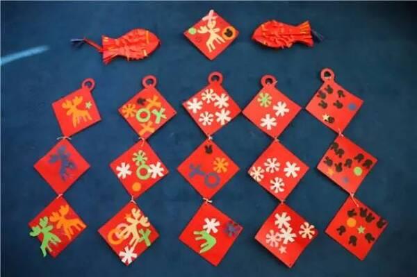幼儿园元旦,圣诞最新手工吊饰来袭!