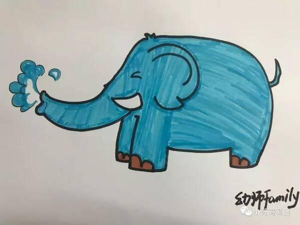小芬简笔画:可爱的大象