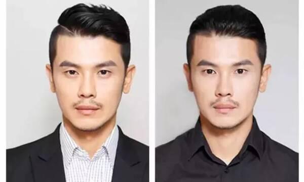 发型设计与脸型搭配,男生短发发型铲两边图片