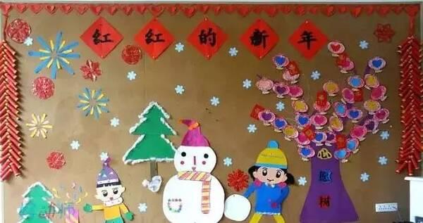 图说幼儿园中国风新年环创