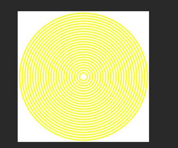 ps极坐标快速打造等距同心圆