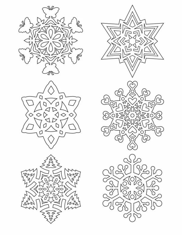 多种雪花简笔画步骤