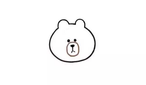 师讯网推荐——儿童简笔画教程,网红布朗熊画法图解