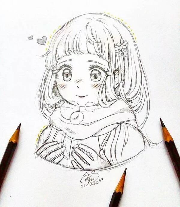 动漫 简笔画 卡通 漫画 手绘 头像 线稿 600_690