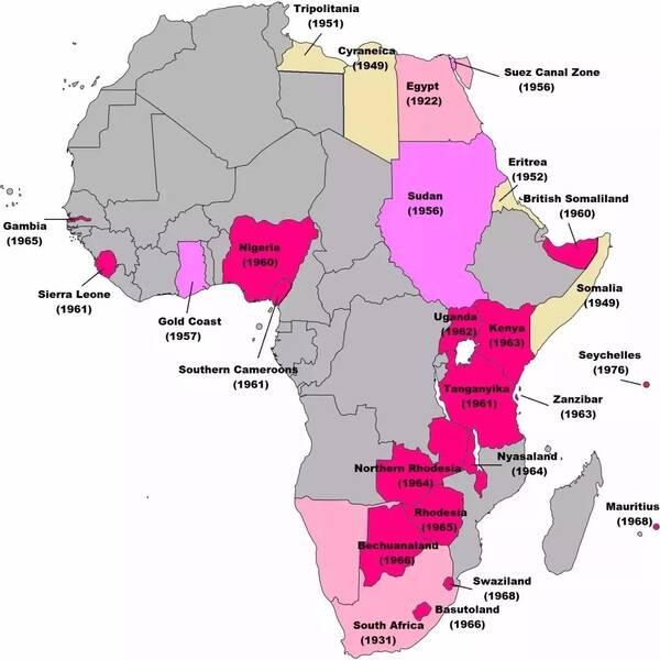 英国非洲殖民地的独立浪潮图片