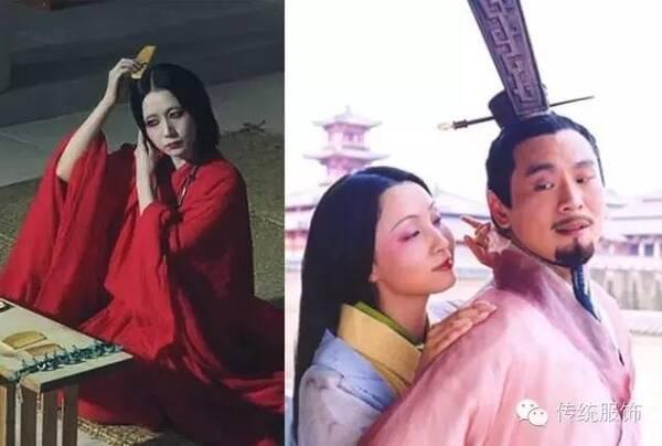 被视为汉朝电视剧的典范,但是剧中女性也一律梳着日本女性的发型,涂着图片