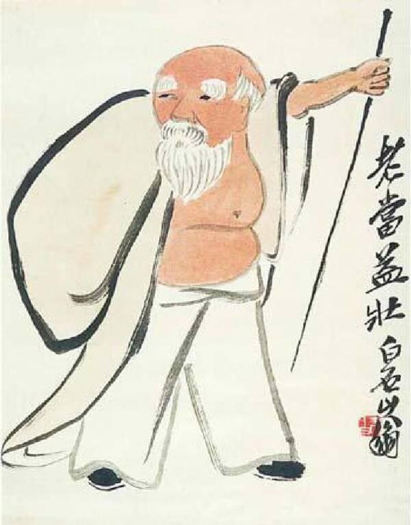图1-5 《水浒叶子》2 我国国画大师齐白石老先生的诸多人物画作品(图