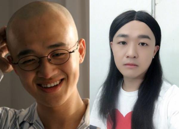 包贝尔晒与乔振宇光头照,感叹11年过去还是没头发,网友神补刀图片