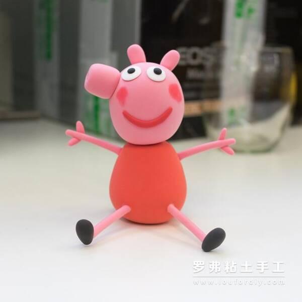 萌哒哒小猪佩奇罗弗超轻粘土教程图片