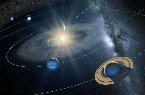 太阳系中九大行星绕太阳转动,太阳系的引力场是不是有图片