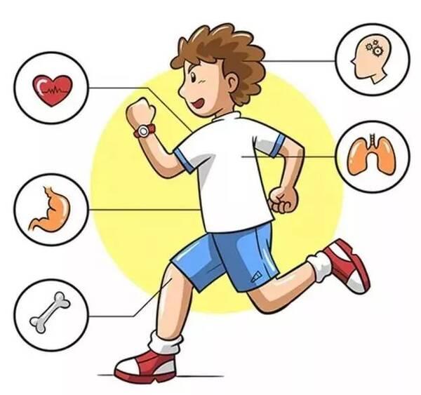 卡通学生跑步矢量图