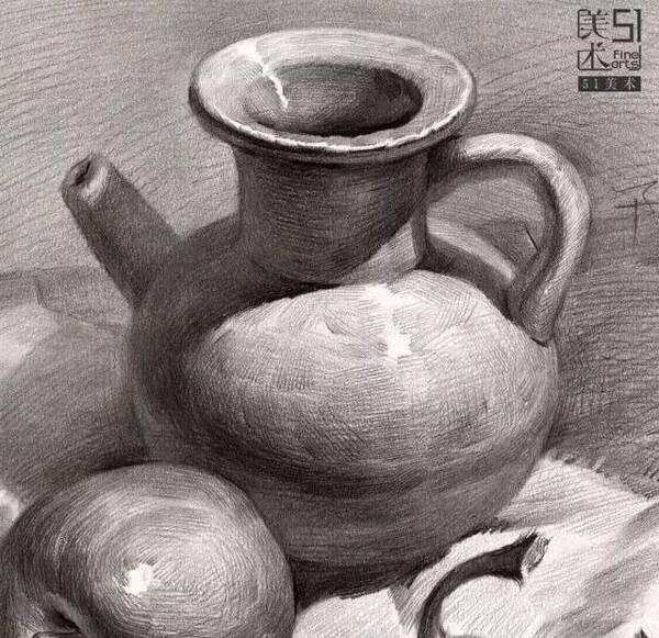 图库  各种素描陶罐的画法都在这了