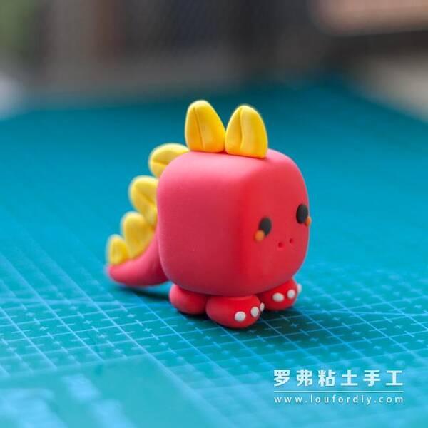 萌哒哒罗弗超轻粘土小恐龙做法制作教程