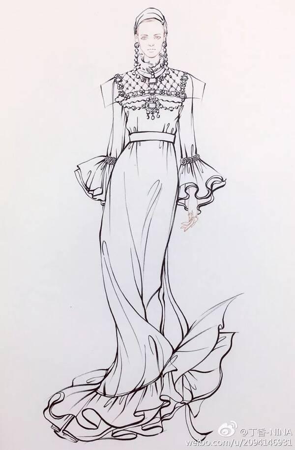 信不信,学会服装设计手绘,从此线条比例不是梦!
