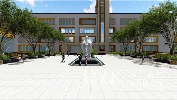 今秋投入使用 据了解,青岛西海岸新区迁建河西小学位于红石崖街道龙家