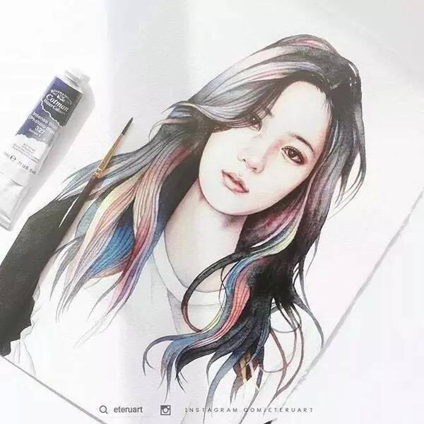 帅动漫白纸画的_颜色要浅,只比白纸稍微暗点 背景色调 要比实际的色调更暗些 这样