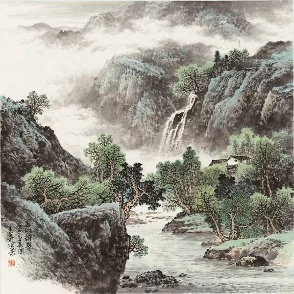 著名画家喻继高评佘玉奇山水画:玉铸奇峰【图】