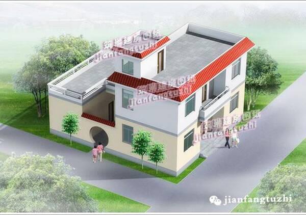 大露台平屋顶农村自建房设计效果图施工图大全图片