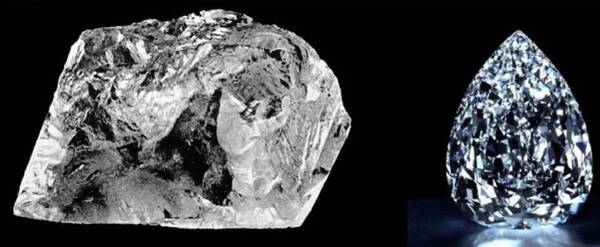 库利南钻石原石和库利南1号钻石