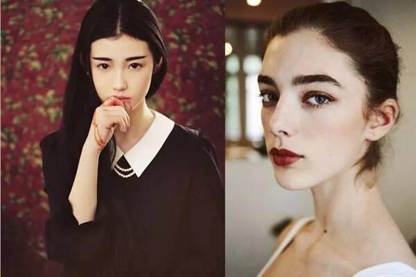 刘亦菲和林依晨就是典型的厚嘴唇图片