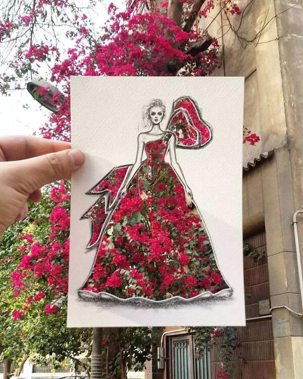 从大自然中寻找灵感:服装设计师 Shamekh 别出心裁的创意