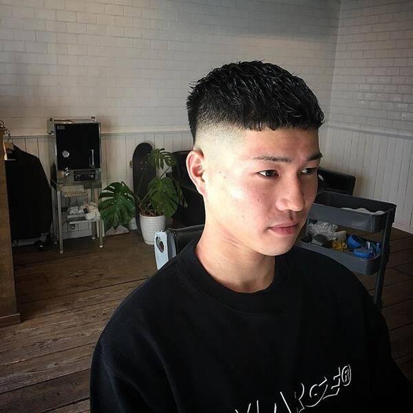2018男士流行发型,这样剪干净利索图片