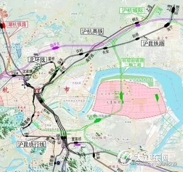 萧山机场至杭州南站_联络线 联络线从杭州南站至萧山机场,长度14.