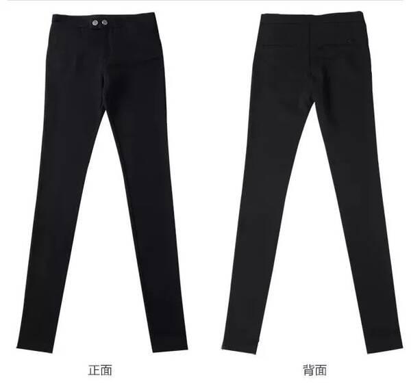 正反面的设计线条,简洁干净,显瘦又大气!就像穿了健身裤一样舒适.